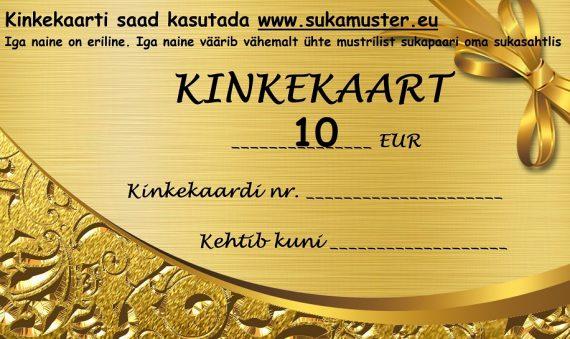 Kinkekaart 10 eurot kodulehele
